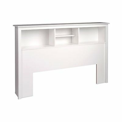 Prepac Furniture WSH-6643 Platform Storage Full/Queen Bookcase Headboard