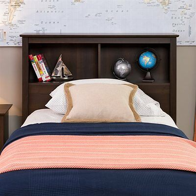 Prepac Furniture ESH-4543 Platform Storage Twin Bookcase Headboard