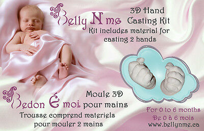 3D mold casting kit for 1 hand & 1 foot
