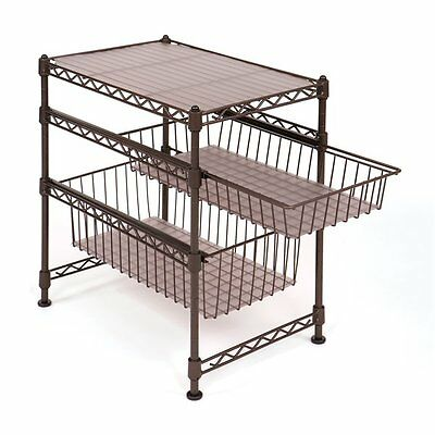 Vancouver Classics SHE05122 2-Drawer Stackable Kitchen Cabinet Organizer