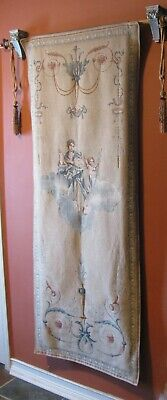 Vintage European Woven Tapestry Italy France Women Angels Wall Hanging COA 11468