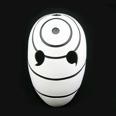 T57  Naruto Uchiha Obito Cosplay Mask Halloween Party Prop Collection FRP HOT