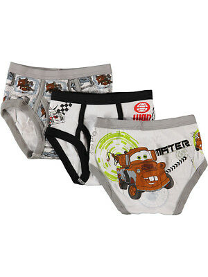 "Disney Cars Little Boys' Toddler ""Checkered Flag"" 3-Pack Briefs (Sizes 2T - 4T)"