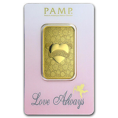 1 oz Gold Bar - PAMP Suisse Love Always (In Assay) - SKU #92825