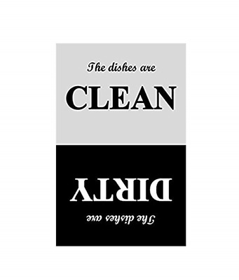 Clean / Dirty Dishwasher Magnet - Glossy Waterproof  Magnet - 4x6 inches.