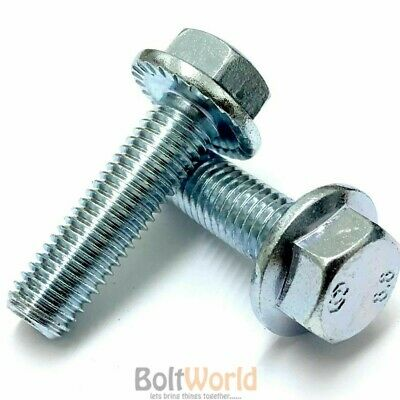 M6 M8 M10 M12 Flange Hexagon Hex Head Serrated Metric Bolts Set Screws Zinc
