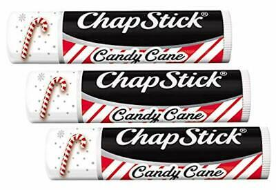 Candy Cane Chapstick Limited Edition Pack of 3  .15 Oz - NEW & CARDED