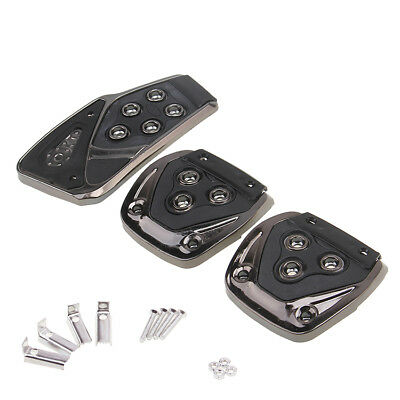 Black Manual Car Foot Pedals Brake Accelerator Pad Cover for Toyota Mazda Holden