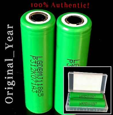 2 LG MJ1 18650 3500mAh High Drain 10A Rechargeable Battery  Free Case