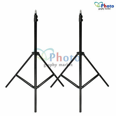 Foldable Studio 2x 210cm Tall Light Stand Tripod Video Lighting Flash Support