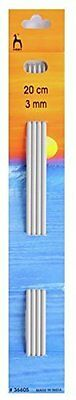 Knitting Needles Pony Aluminium Double Pointed Knitting 3mm x 20cm 4 pack P36605