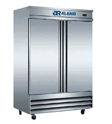 Alamo XCFD-2FF-E 46cf Commercial 2-Door Stainless Steel Reach-in Freezer NEW!