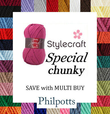 Stylecraft Special Chunky 100g Yarn / Wool 100% Acrylic  *BUY 10+ & SAVE 5%*