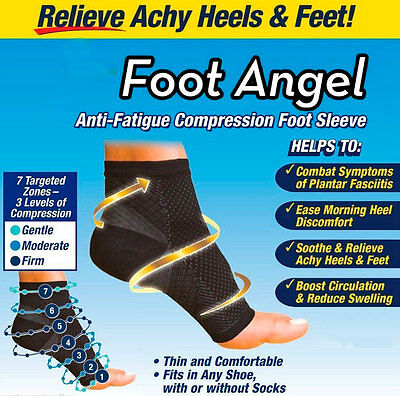 Compression Foot Sleeve Plantar Fasciitis Arthritis Socks Sore Achy Heel Pain