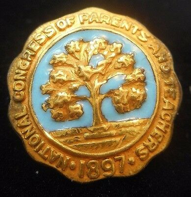 Gold Plated National Congress of Parents and Teachers Pin  Brooch