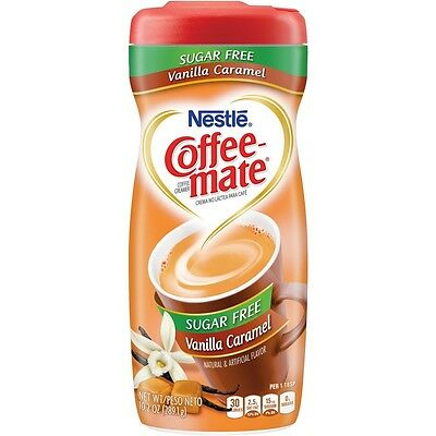 Nestle Sugar Free Coffee Mate Powder - Vanilla Caramel, Low Carb, Low Fat