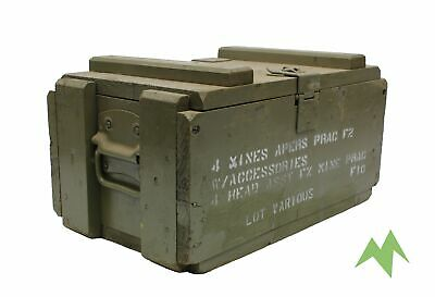 MILITARY SURPLUS Wooden Ammo Box (Mines) Metal Handle