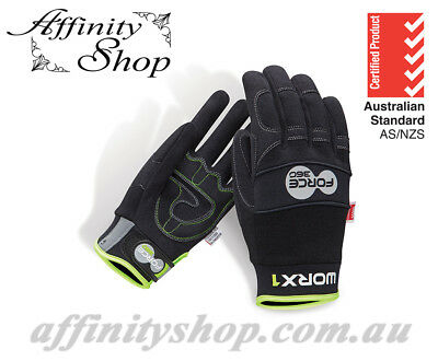 Force360 Worx1 Work Gloves Mechanic Style Hand Protection PPE Safety Glove NEW!