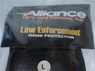New Alliance S.w.a.t. Police Law Enforcement Gloves Large Half Finger Afrp500 Bd