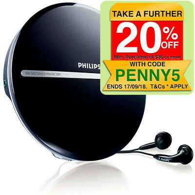Philips EXP2546 Portable MP3 CD CD-R CD-RW Player/JogProof 100 sec + Earphones