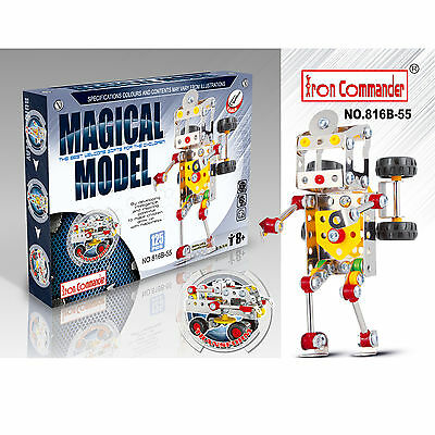 Iron Commander Meccano Style DIY Metal Robot Able to Transform To Car