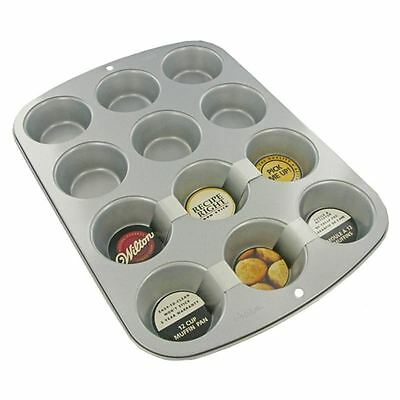 Wilton 12 Cup Muffin Pan Baking Tray Tin Cupcakes Cup Cakes Mould Non Stick
