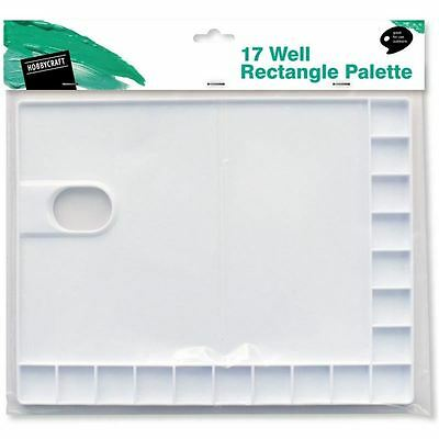 Hobbycraft 17 Well Rectangle Palette Painting Artwork Lightweight Outdoor Use