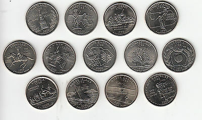 American State Quarters UNC 1st 13 issued coins multi listing - Post Free