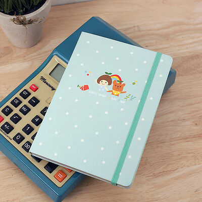 [7321 Design] Girl's Mind Diary Cute Illustration Girlish Design (3 Types)
