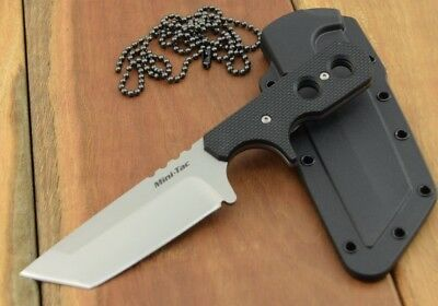 Cold Steel MINI TAC TANTO Knife AUS 8A Stainless Secure-Ex® Neck Sheath 49HTF