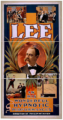 Photo Printed Poster Stage Theatre Magician Mysteries Lee Hypnotic Performances