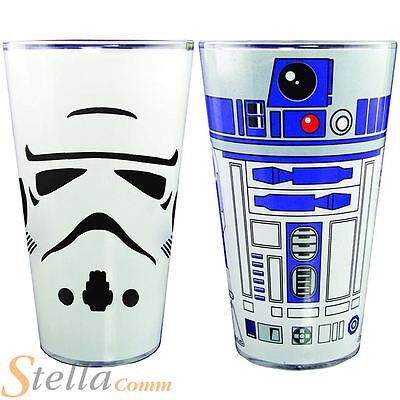 Star Wars Pint Glass Character 500ml Beer Drinking Glasses R2-D2 Stormtrooper