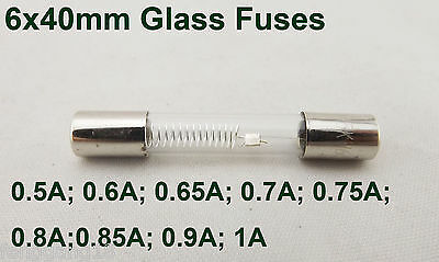 2pcs Microwave Oven High Voltage 5KV 5000V 6mm x 40mm Axial Glass Fuses Tubes
