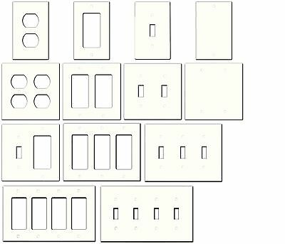Ivory/Almond Cream Beige Metal Wall Plate Covers Switch Plates & Outlet Covers