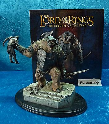 Sideshow Weta Figur Battle Troll of Mordor Herr der Ringe Lord of the Rings neu!