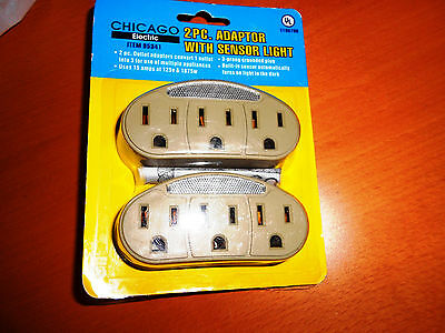 Power Multipler 3-prong Outlet / Pack of 2- NEW in Package By Chicago Electric