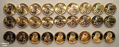 2000 - 2008 Sacagawea 27 Coin PDS Uncirculated & Proof Set from US Mint Rolls
