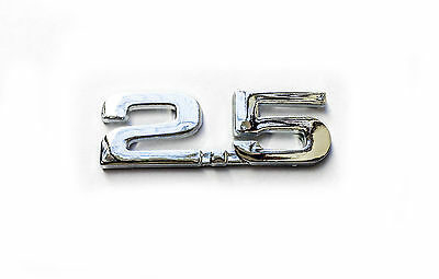 For 2.5 Emblem 3D Car Auto Metal Silver New Trunk Decal  Badge Sticker