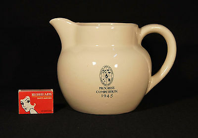1945 Aust Pottery Bakewells Masonic  Jug Progress Competition Oddfellows Nsw.