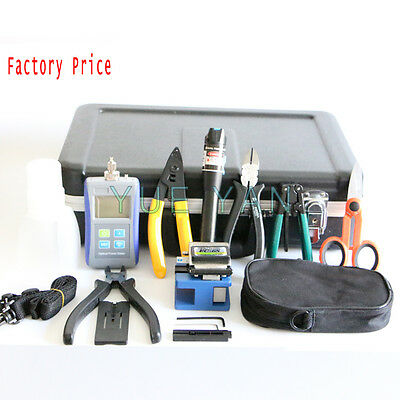 Fiber Optic FTTH Tool Kit FC-6S Fiber Cleaver Optical Power Meter 10Mw Visual
