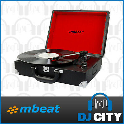MBeat Suitcase Vinyl Turntable w/ USB Player and Built-in Speakers Record Player