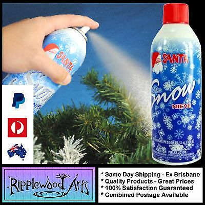 Chase Santa SNOW 13oz (368gm) Tin - Use on xmas trees, wreaths and decorations