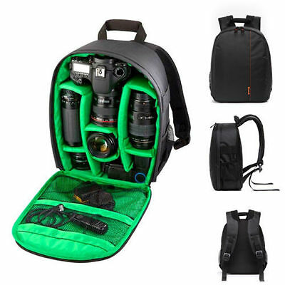 New Waterproof DSLR Backpack Case Bag For Canon Nikon Sony Camera Lens