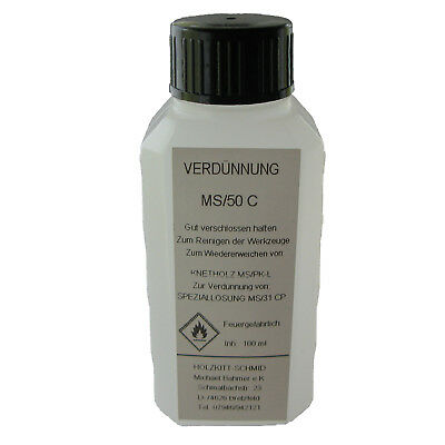 100 ml Thinner MS/50 C Solvent for cleaning and diluted Wood PuTTY