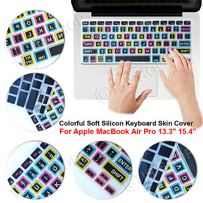 "Colorful Soft Silicon Keyboard Skin Cover For Apple MacBook Air Pro 13.3"" 15.4"""