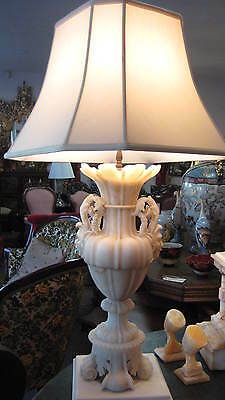 Pair of Renaissance Style Italian Alabaster Lamps - probably late 1940's