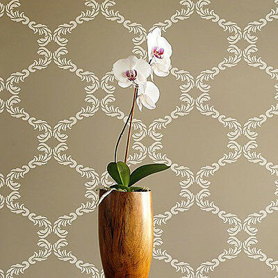 Chelsea Allover Wall Stencil - SMALL - Sturdy Reusable Wall Stencils for DIY