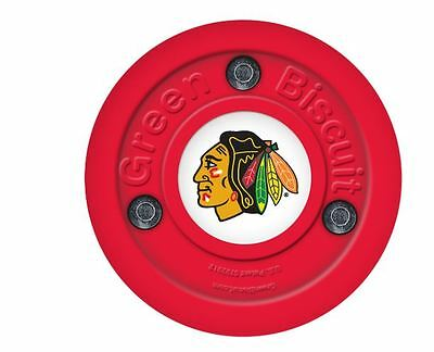 NEW OFF ICE TRAINING GREEN BISCUIT Chicago Blackhawks PUCK
