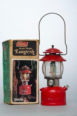 Very Nice Vintage 1979 Coleman Model 200A195 Red Lantern Single Mantle Untested