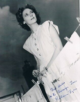 Kathleen Byron  - Actress Young Bess Black Narcisuss  Hand Signed Photograph